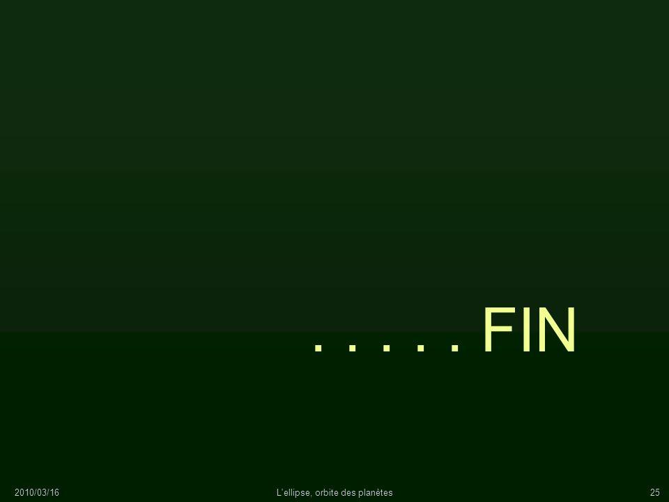 2010/03/16L'ellipse, orbite des planètes25..... FIN