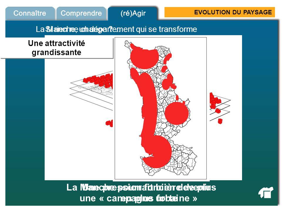 EVOLUTION DU PAYSAGE Si rien ne change ?… Péri-urbanisation La Manche pourrait bien devenir une « campagne urbaine » Une attractivité grandissante Une