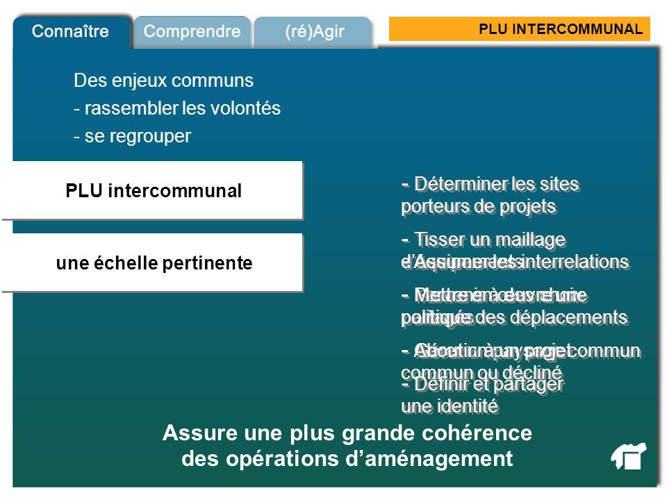 PLU INTERCOMMUNAL PLU intercommunal une échelle pertinente PLU intercommunal - rassembler les volontés - se regrouper - Gérer un paysage commun - Abou