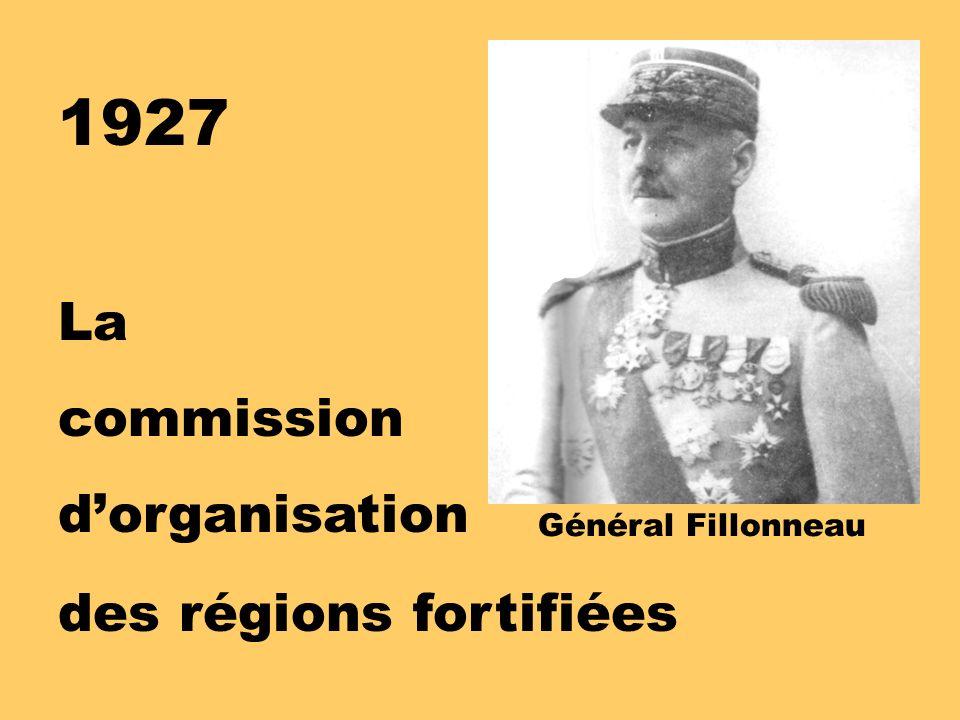 1927 La commission dorganisation des régions fortifiées Général Fillonneau