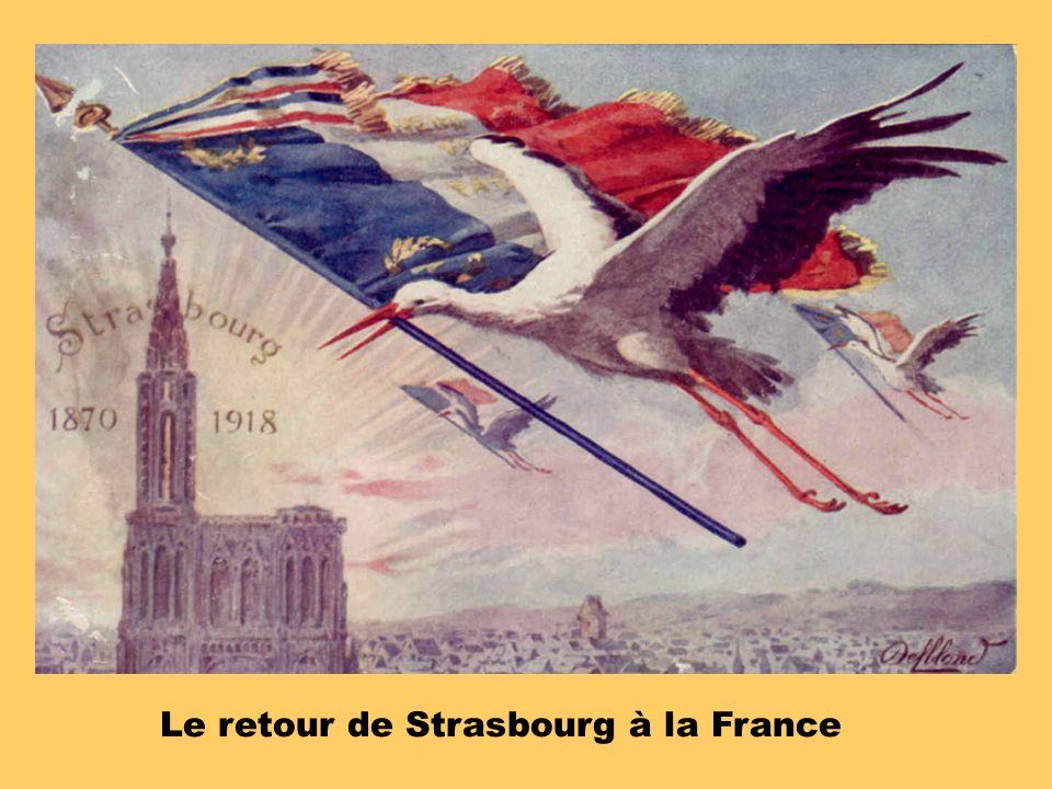 Le retour de Strasbourg à la France