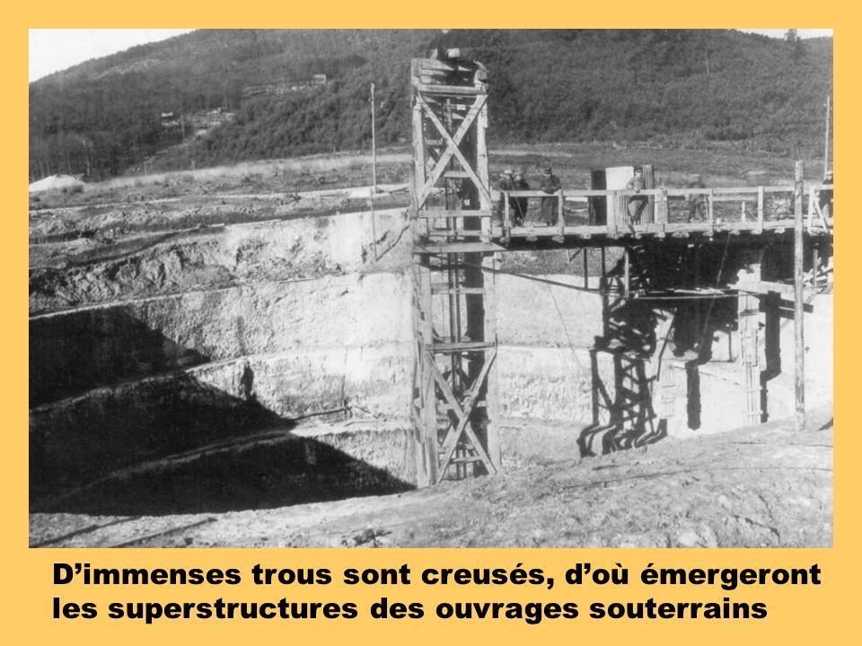 Dimmenses trous sont creusés, doù émergeront les superstructures des ouvrages souterrains