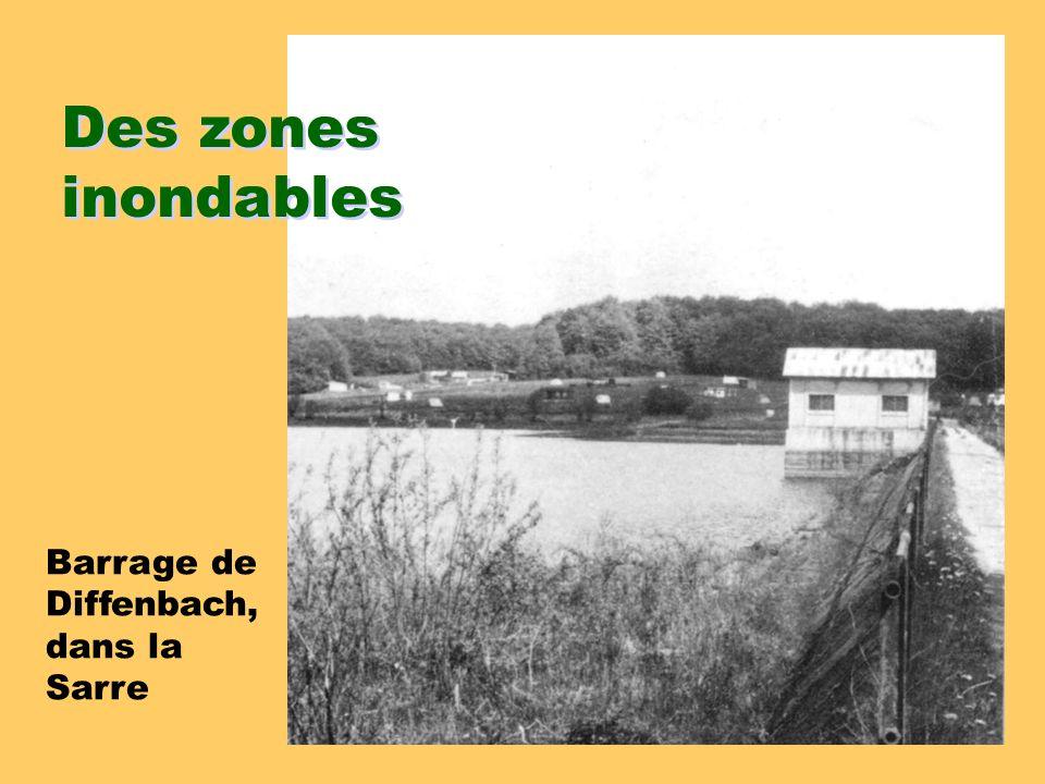 Des zones inondables Barrage de Diffenbach, dans la Sarre