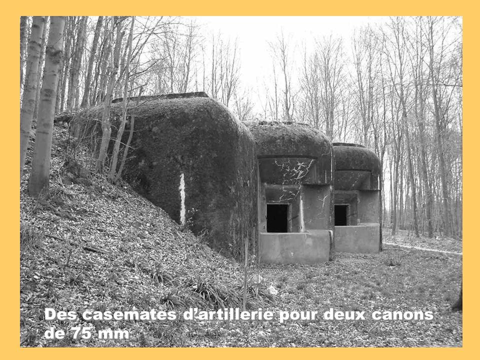 Des casemates dartillerie pour deux canons de 75 mm