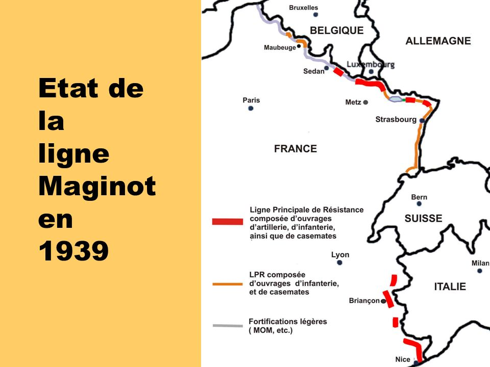 Etat de la ligne Maginot en 1939