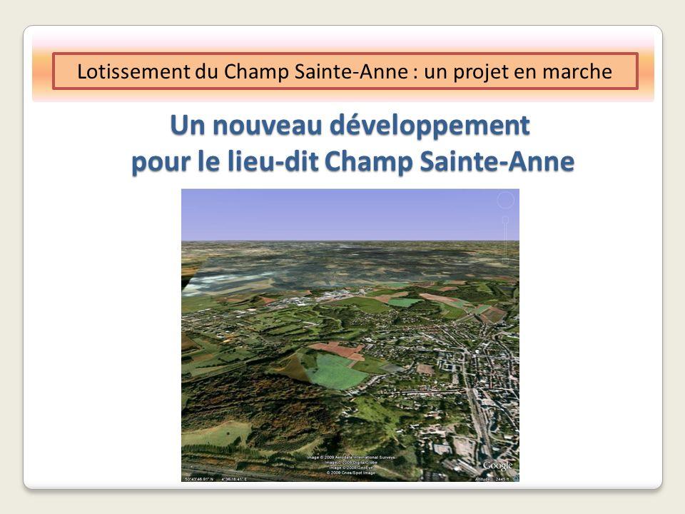 Lotissement du Champ Sainte-Anne : un projet en marche Un nouveau développement pour le lieu-dit Champ Sainte-Anne