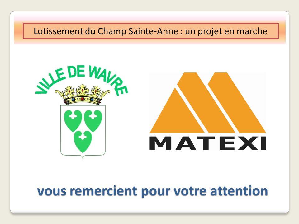 vous remercient pour votre attention Lotissement du Champ Sainte-Anne : un projet en marche