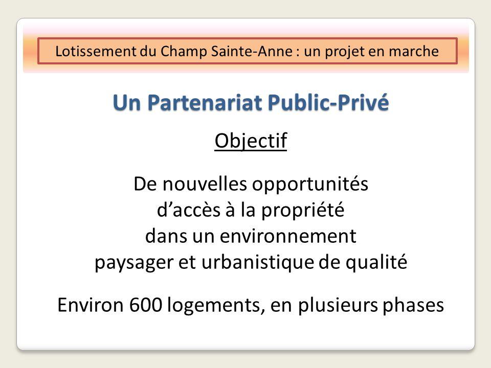 Un Partenariat Public-Privé Lotissement du Champ Sainte-Anne : un projet en marche