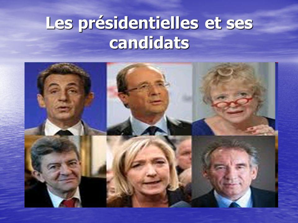 Les présidentielles et ses candidats