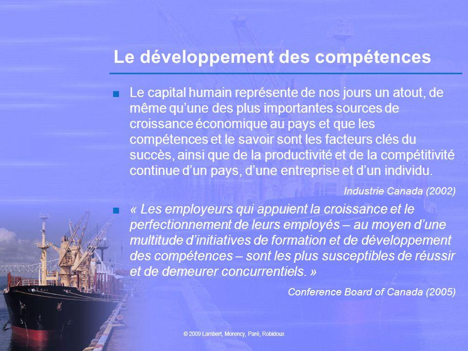Le développement des compétences Le capital humain représente de nos jours un atout, de même quune des plus importantes sources de croissance économiq