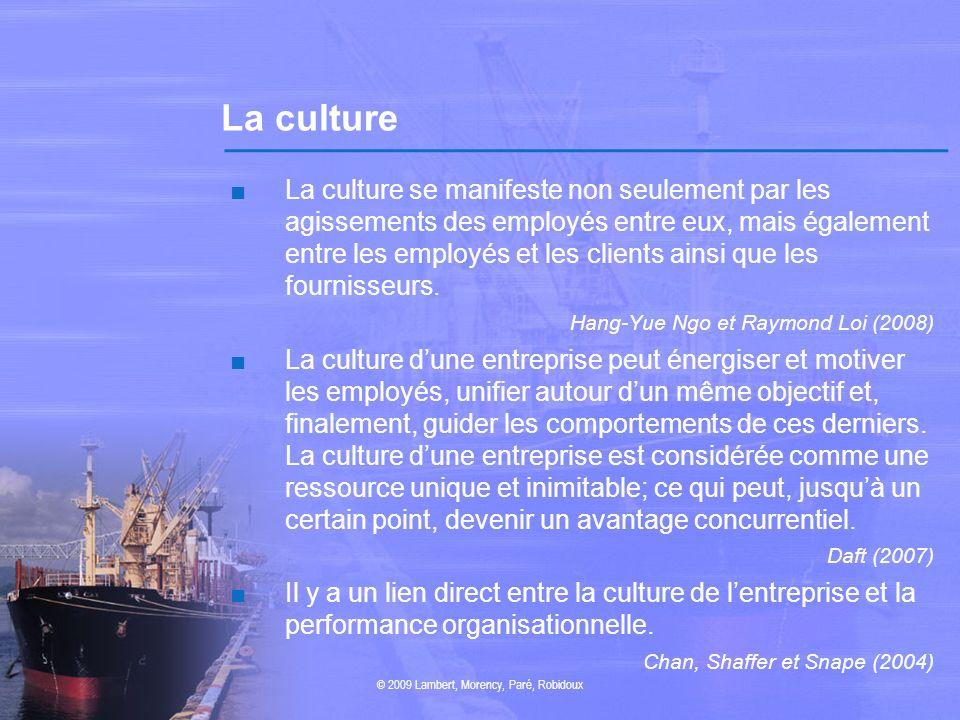 La culture La culture se manifeste non seulement par les agissements des employés entre eux, mais également entre les employés et les clients ainsi qu