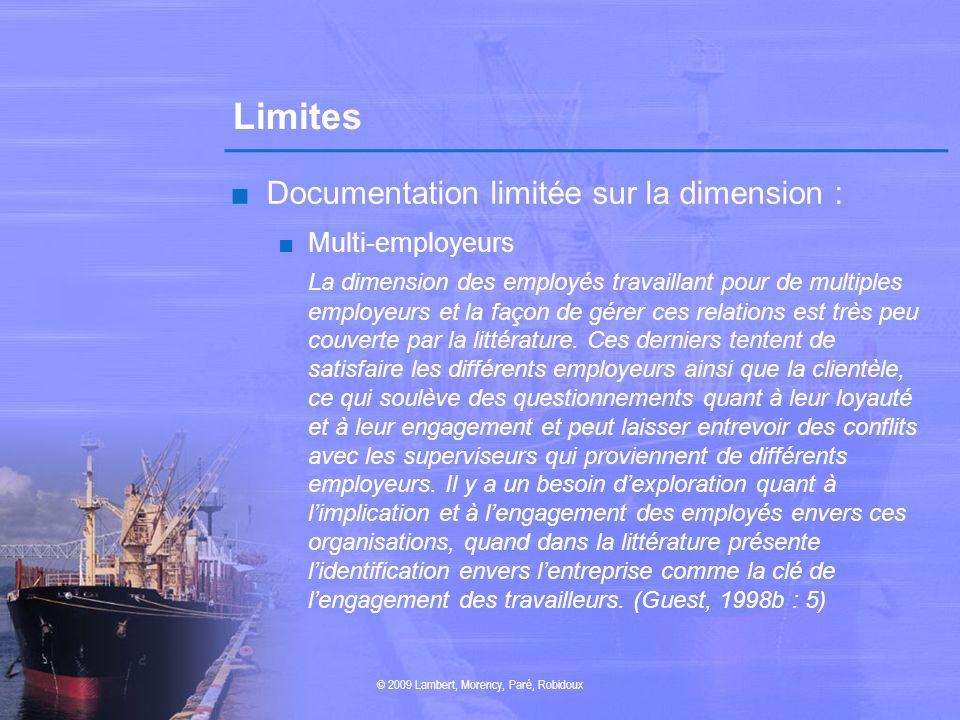 Limites Documentation limitée sur la dimension : Multi-employeurs La dimension des employés travaillant pour de multiples employeurs et la façon de gé