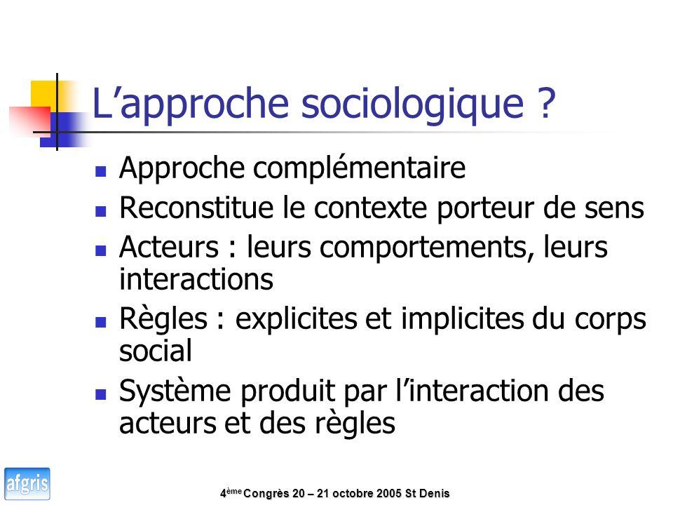Lapproche sociologique .