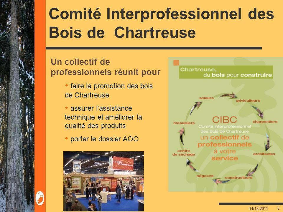 5 14/12/2011 Comité Interprofessionnel des Bois de Chartreuse Un collectif de professionnels réunit pour faire la promotion des bois de Chartreuse ass