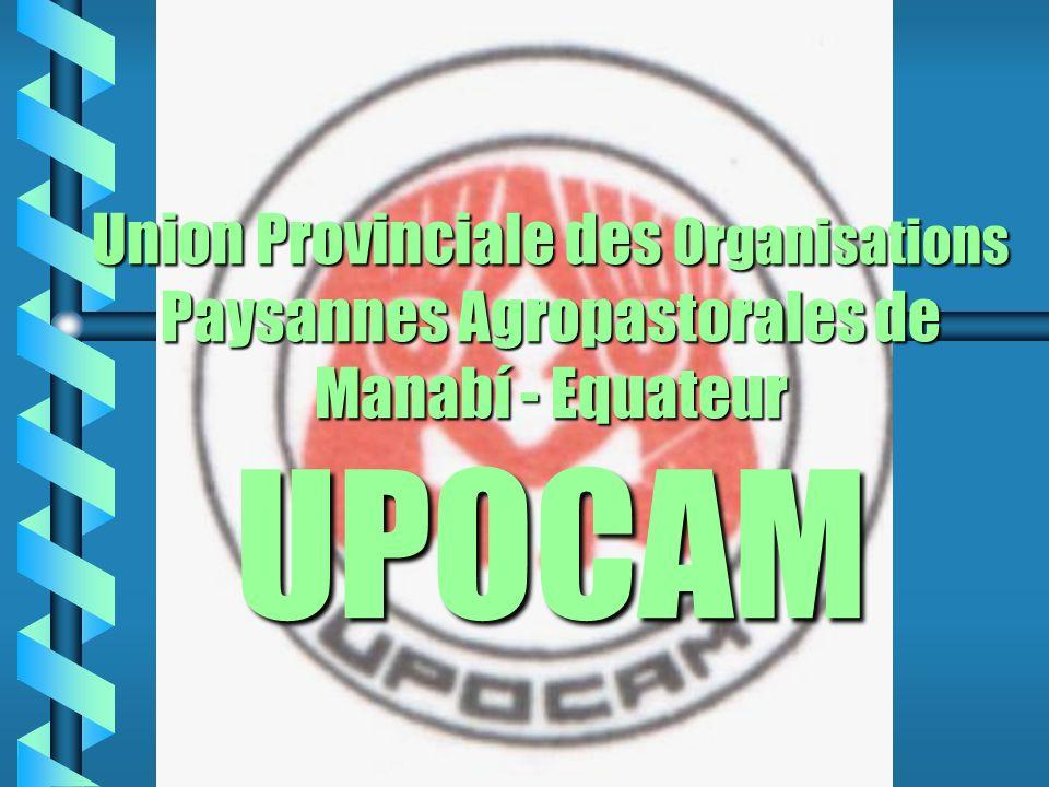 Union Provinciale des Organisations Paysannes Agropastorales de Manabí - Equateur UPOCAM
