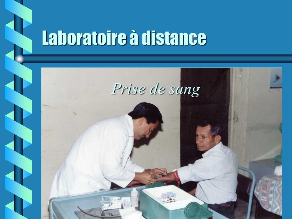 Laboratoire à distance Signature de la convention interinstitutionnelle: organisations, médecin, promotrice de santé, coopérative de transport