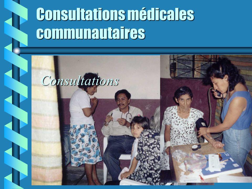 Consultations médicales communautaires Consultations médicales dans les communautés