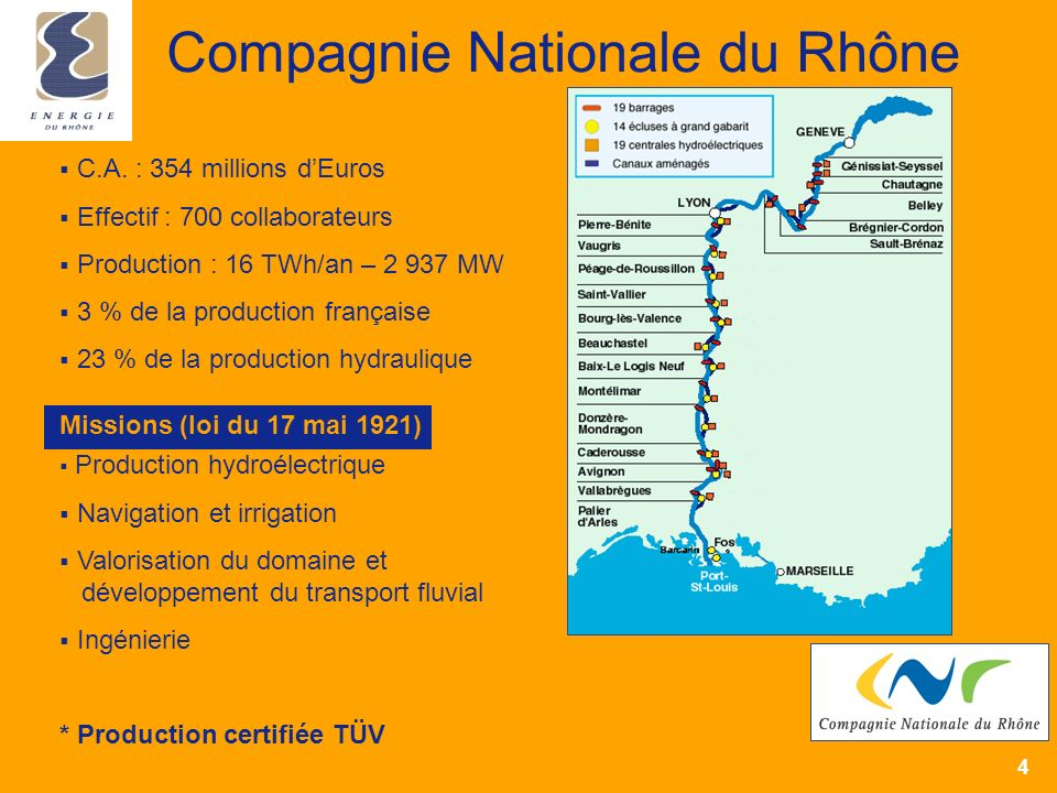 4 Compagnie Nationale du Rhône C.A.