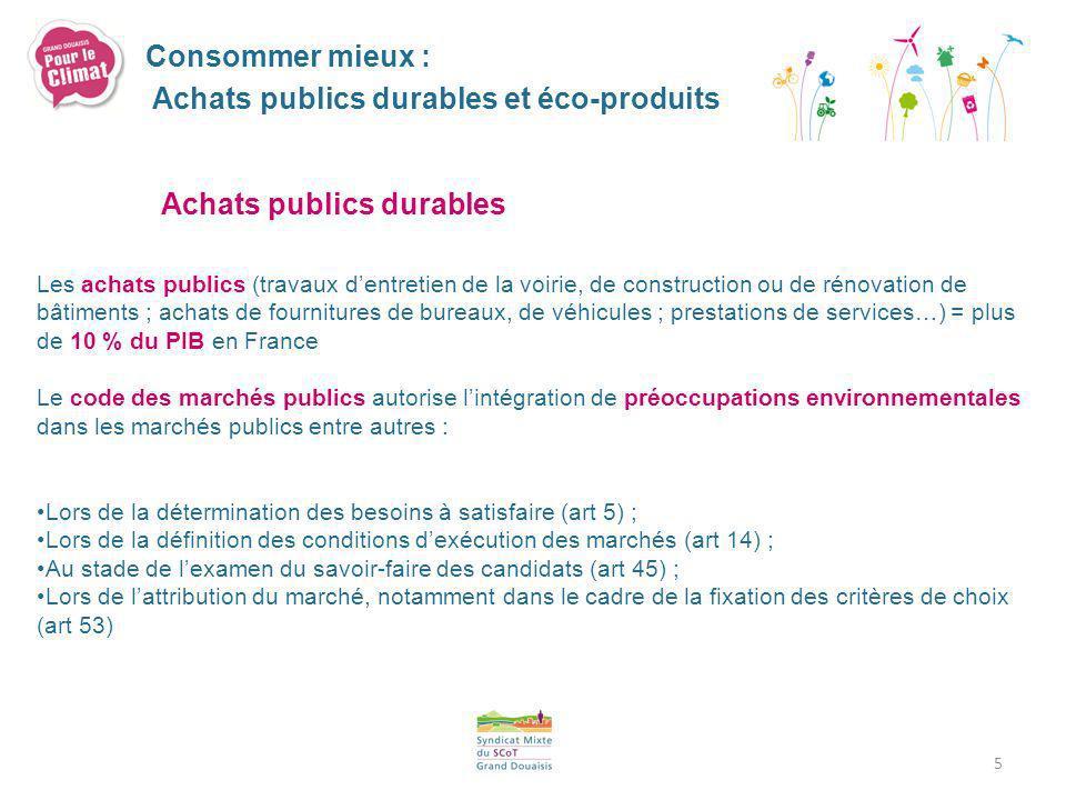 Eco-produits A service rendu identique, un écoproduit est source de moins dimpacts sur lenvironnement, tout au long de son cycle de vie, par rapport à dautres produits standard dusage similaire.