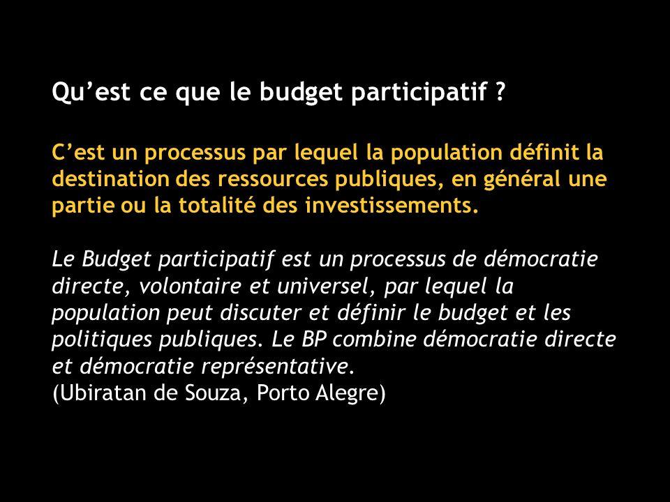 Quest ce que le budget participatif .