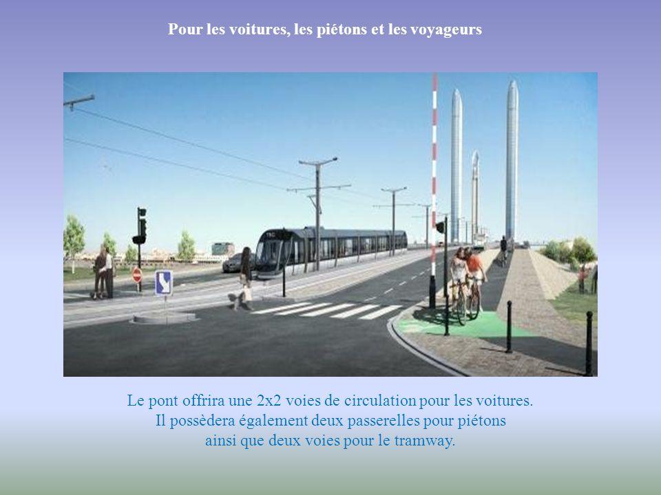 Il reliera deux quartiers Le nouveau pont reliera les quartiers de Bacalan et de la Bastide. Les travaux ont démarré en décembre 2009.