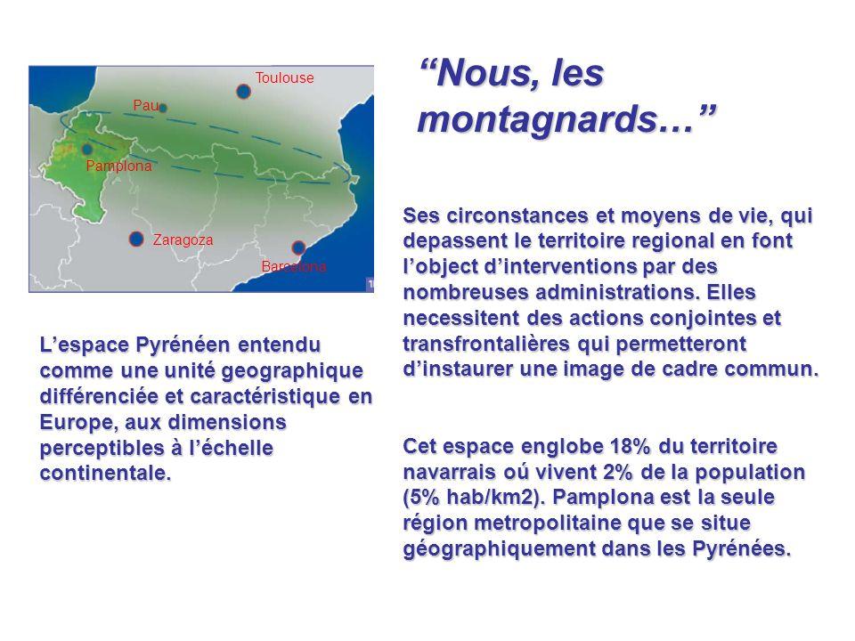 Mais les Pyrénées, en dépit dêtre un continuum naturel, ne constituent quun sous- espace montagneux qui sétend sur trois pays et sept régions de lUE.
