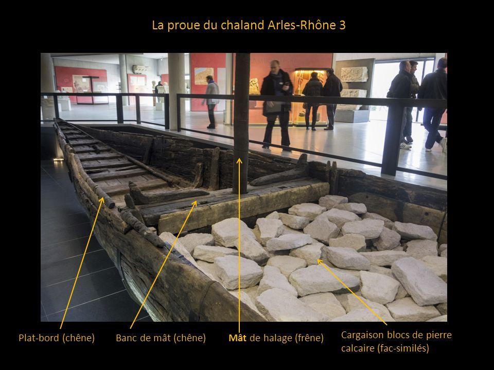 L espace de chargement du chaland Planche amovible de fermeture du caissonBordé de flanc en demi-tronc (sapin) Cloison planche du caisson (sapin) Vaigrage, plancher du caisson (sapin, épicéa ou pin)