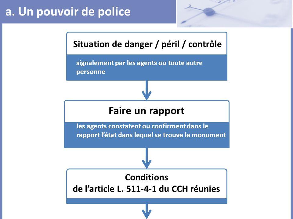 Situation de danger / péril / contrôle signalement par les agents ou toute autre personne Faire un rapport les agents constatent ou confirment dans le