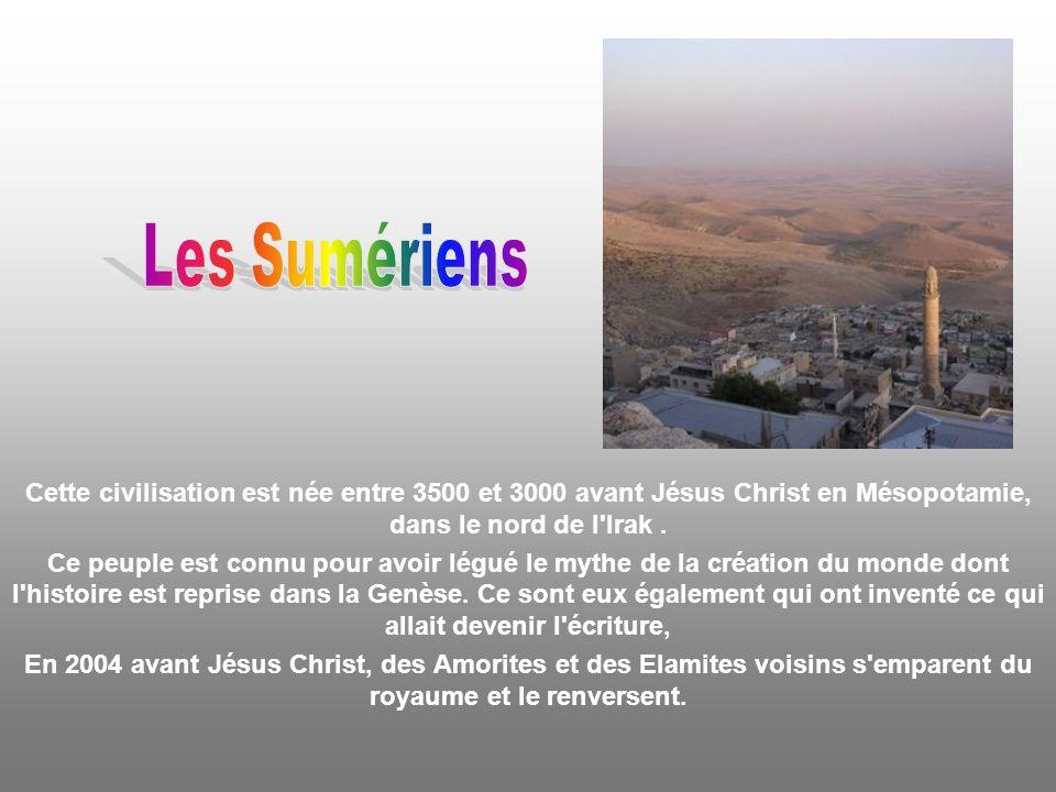 Cette civilisation s est installée en Anatolie, Asie mineure et actuelle Turquie, au XIXe siècle avant Jésus Christ.