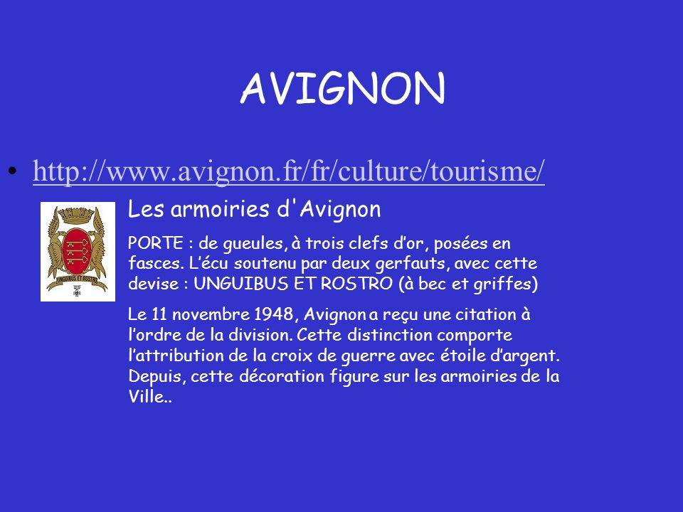 Plan de la ville dAvignon