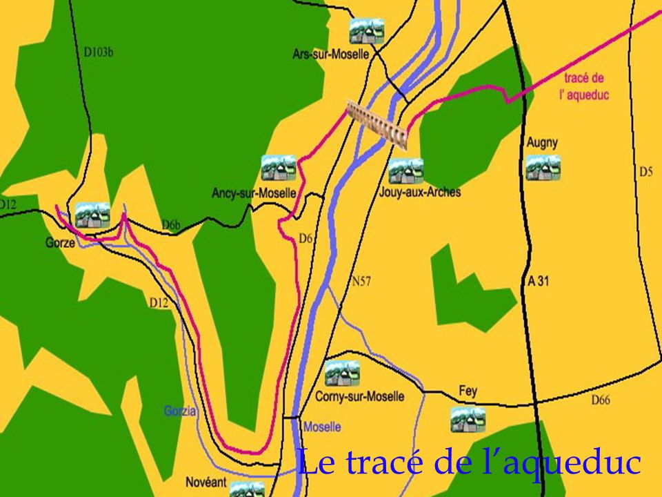 Le tracé de laqueduc