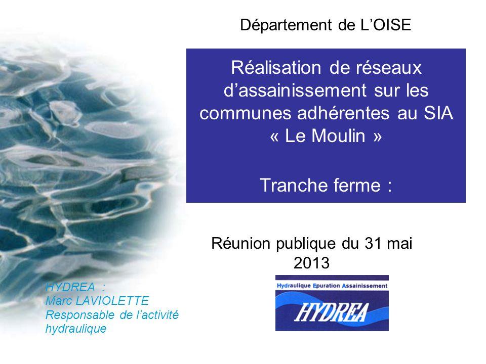 Réalisation de réseaux dassainissement sur les communes adhérentes au SIA « Le Moulin » Tranche ferme : Commune de CRESSONSACQ Lot n°3 : postes de ref