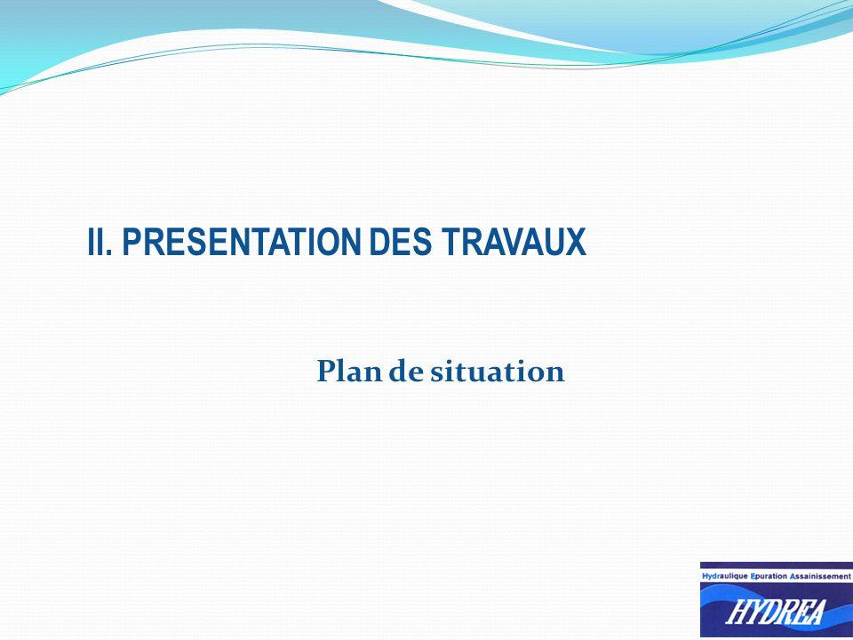 Plan de situation II. PRESENTATION DES TRAVAUX