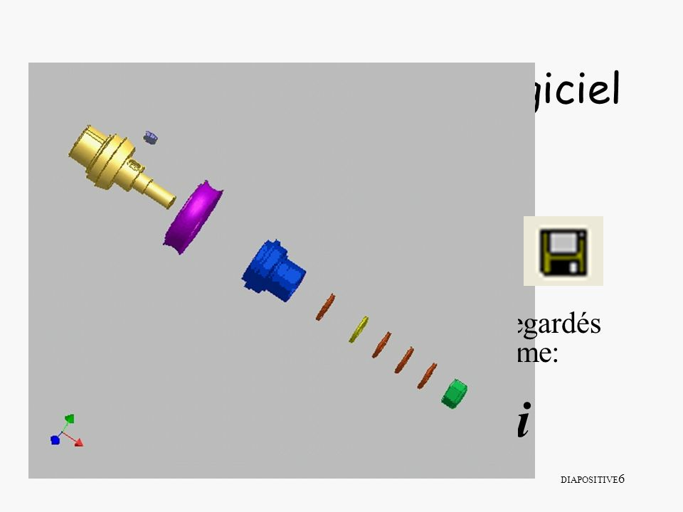 DIAPOSITIVE 57 VI/ La création de dessins normalisés 1- Le chargement du modèle Répertoire personnel à créer dans lequel on peut créer des modèles Modèle standard qui propose une feuille A3 non renseignée