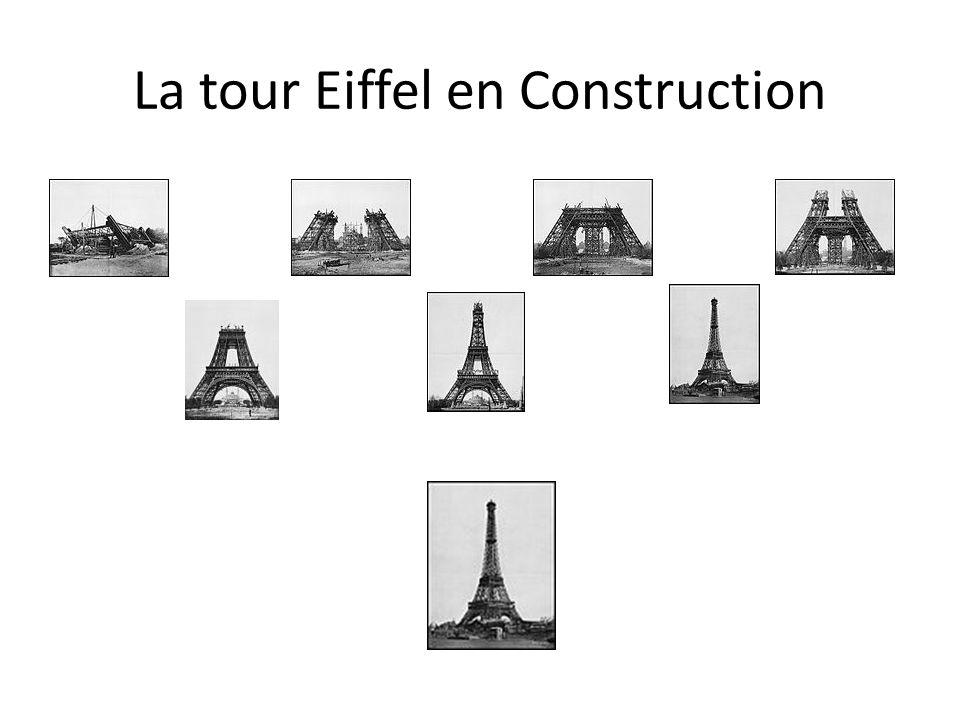 La tour Eiffel en Construction
