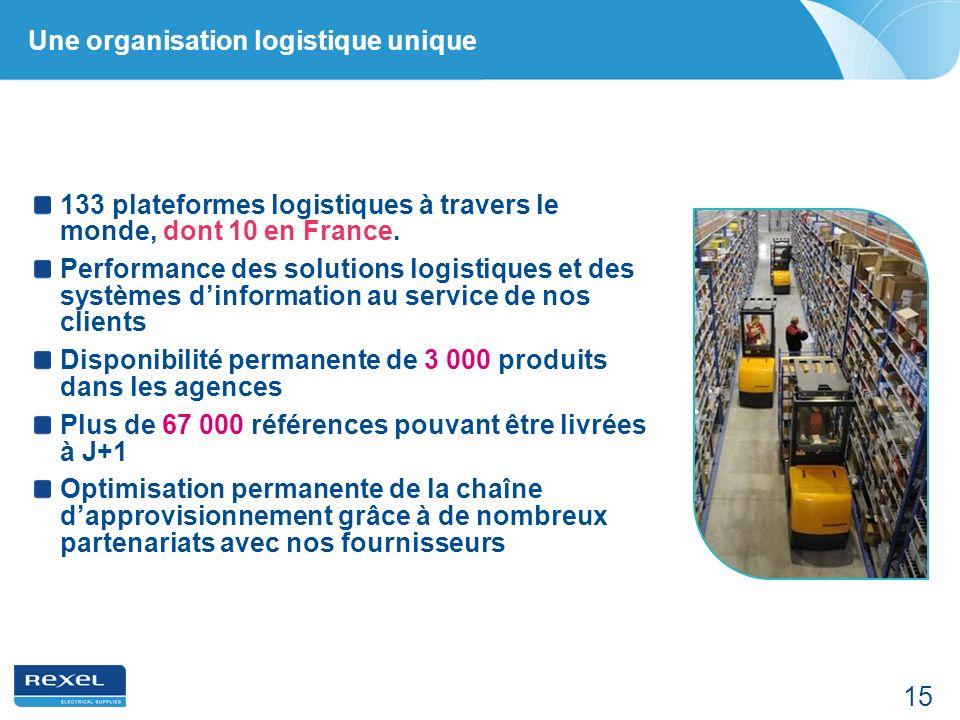 15 Une organisation logistique unique 133 plateformes logistiques à travers le monde, dont 10 en France. Performance des solutions logistiques et des