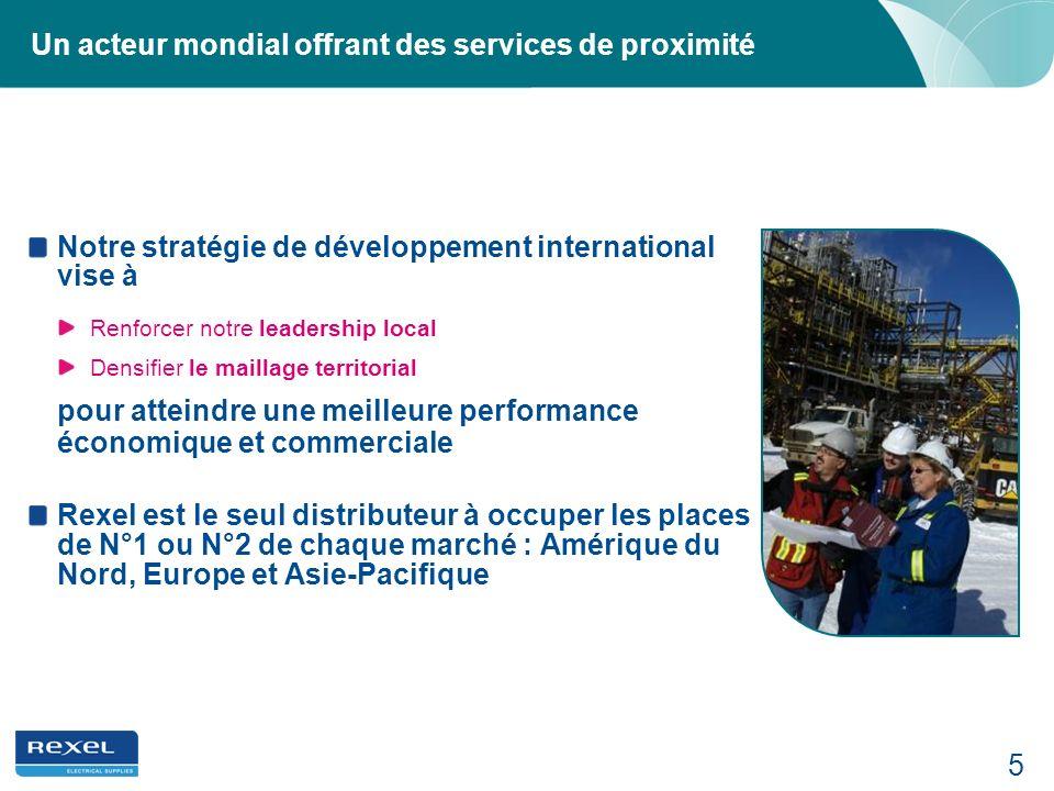 5 Un acteur mondial offrant des services de proximité Notre stratégie de développement international vise à Renforcer notre leadership local Densifier