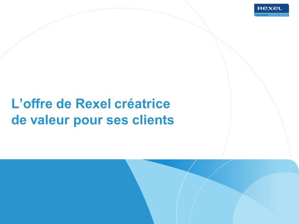 Loffre de Rexel créatrice de valeur pour ses clients