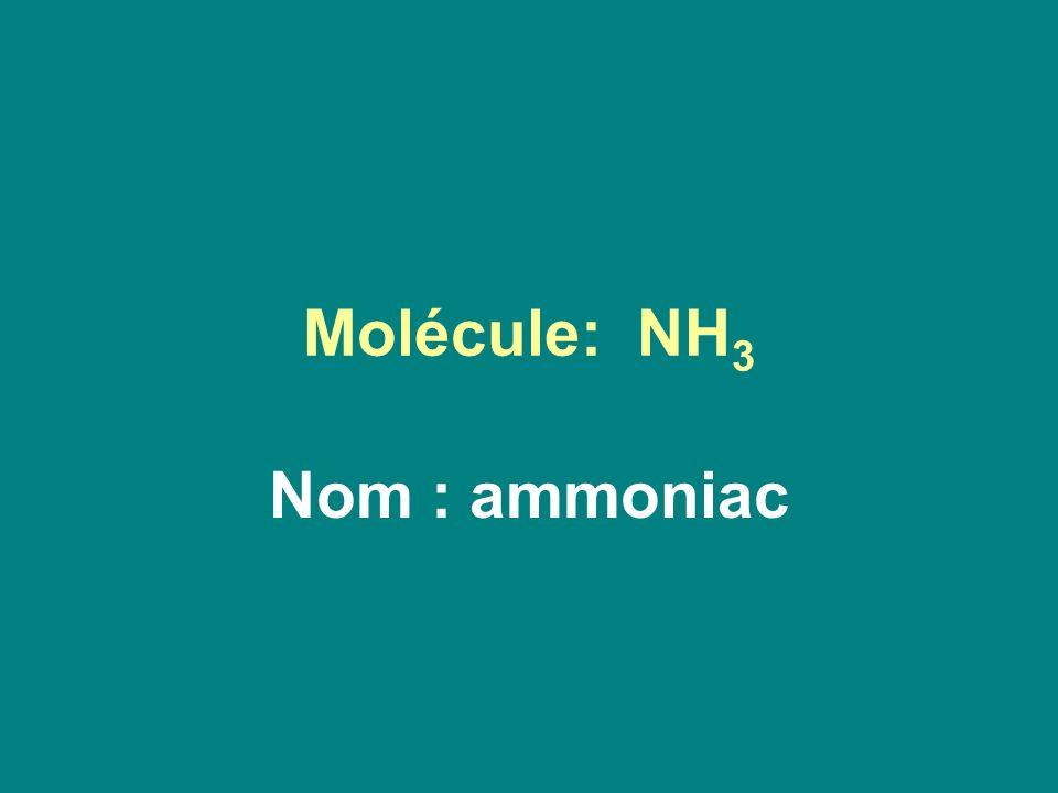 Molécule: NH 3 Nom : ammoniac