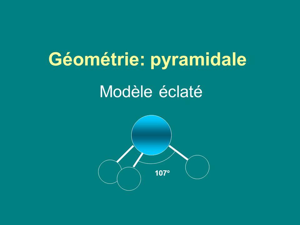 Géométrie: pyramidale Modèle éclaté 107°