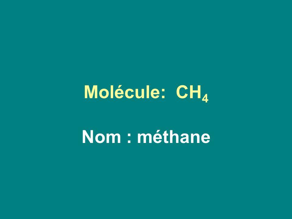Molécule: CH 4 Nom : méthane