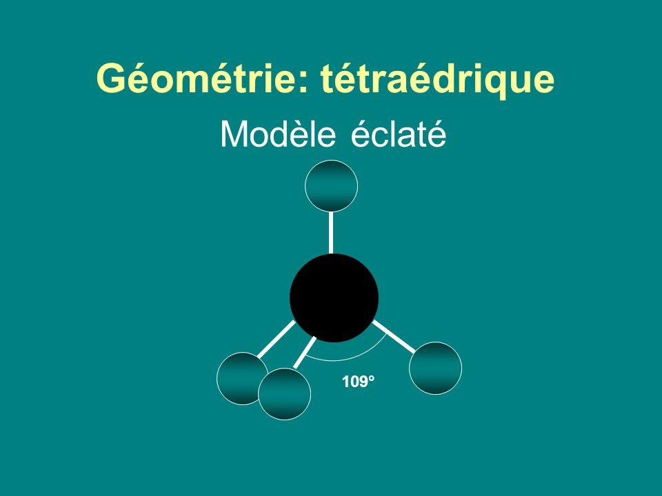Géométrie: tétraédrique Modèle éclaté 109°