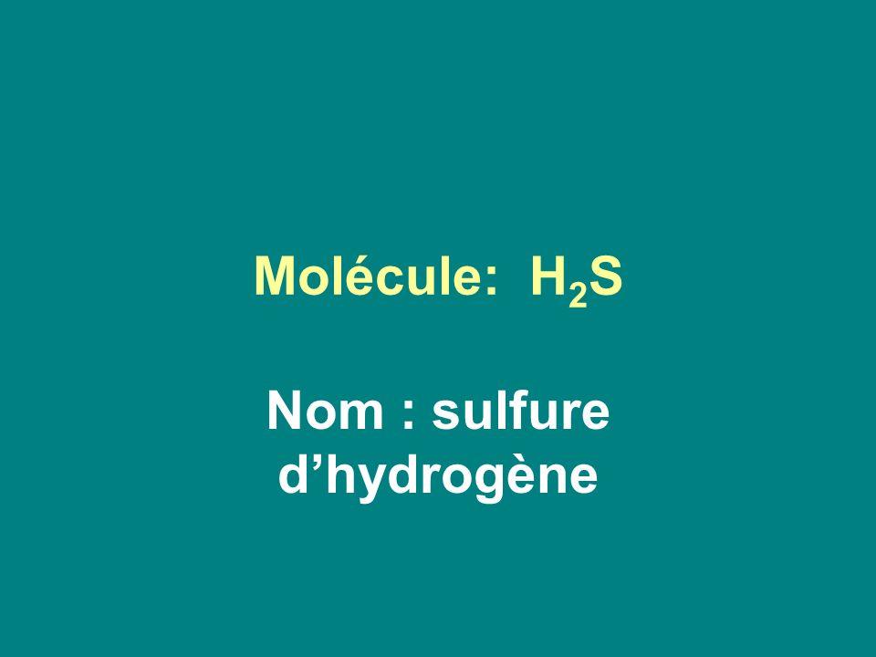 Molécule: H 2 S Nom : sulfure dhydrogène