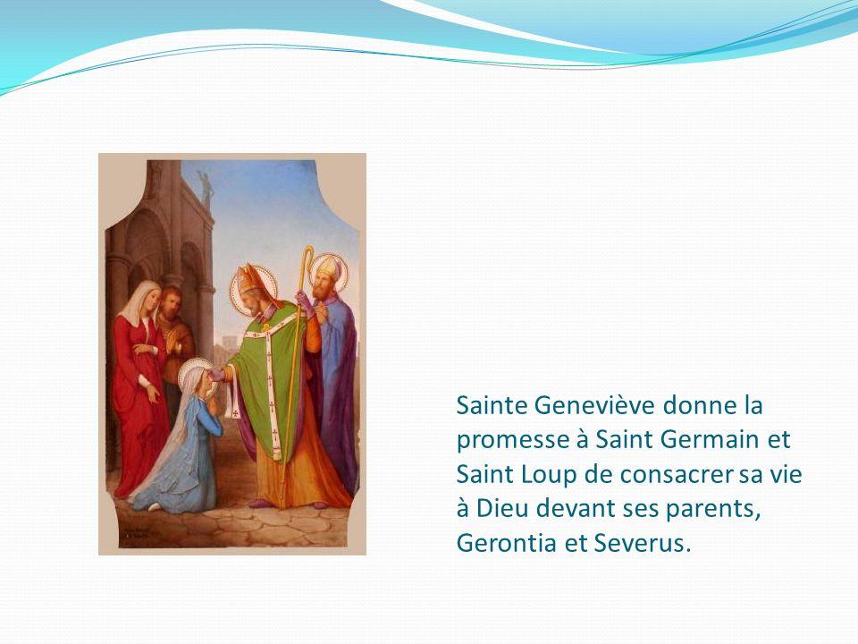 Sainte Geneviève, Chateauroux Bréviaire à lusage de Paris BM, ms0002, f382v, 1414