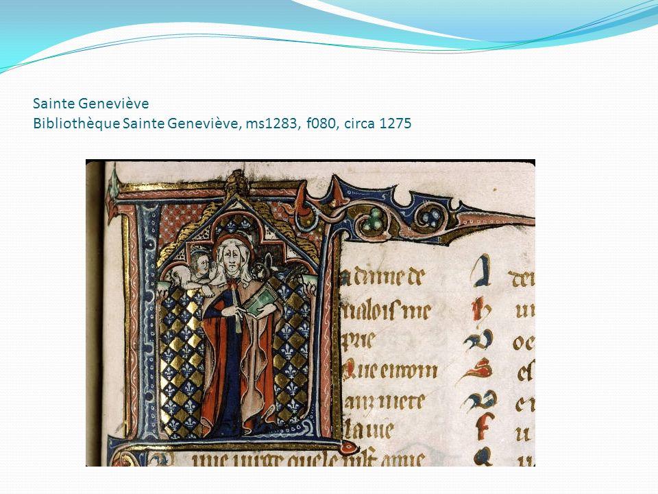 Sainte Geneviève Bibliothèque Sainte Geneviève, ms1283, f080, circa 1275