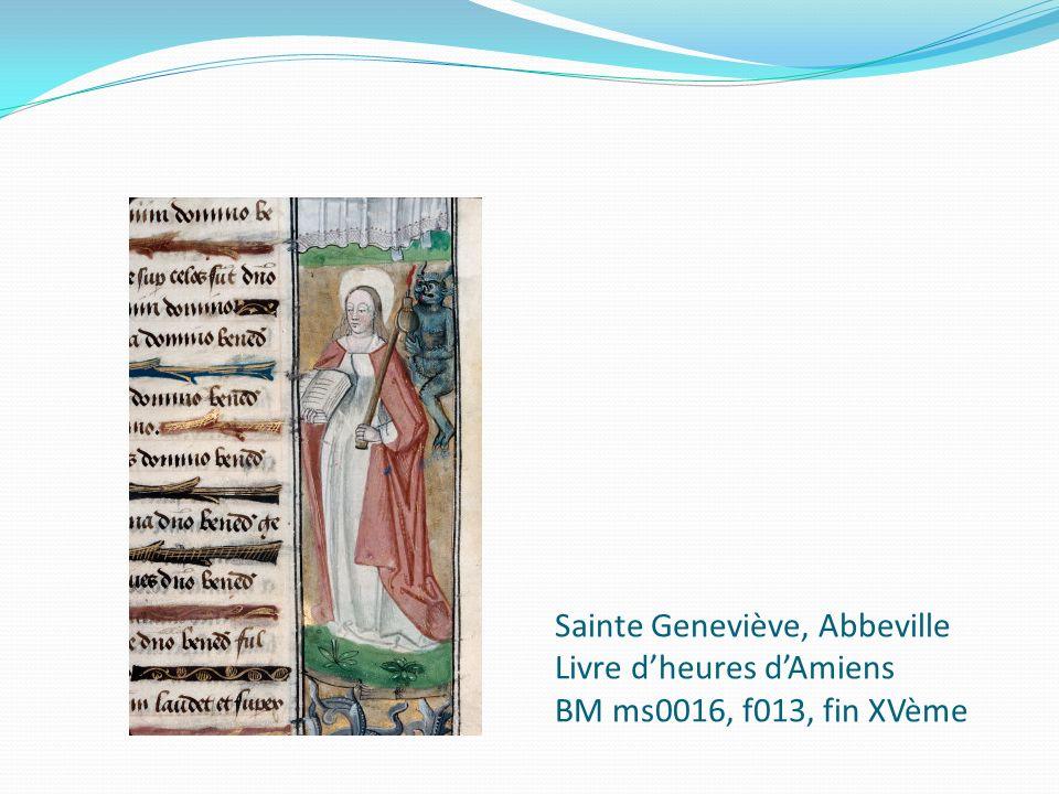 Sainte Geneviève, Abbeville Livre dheures dAmiens BM ms0016, f013, fin XVème
