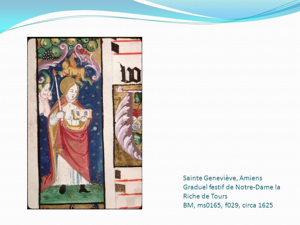 Sainte Geneviève, Amiens Graduel festif de Notre-Dame la Riche de Tours BM, ms0165, f029, circa 1625