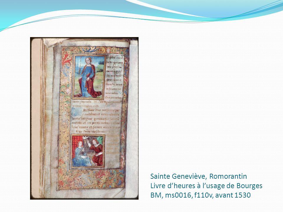 Sainte Geneviève, Romorantin Livre dheures à lusage de Bourges BM, ms0016, f110v, avant 1530