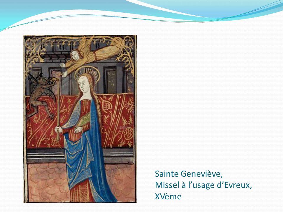 Sainte Geneviève, Missel à lusage dEvreux, XVème