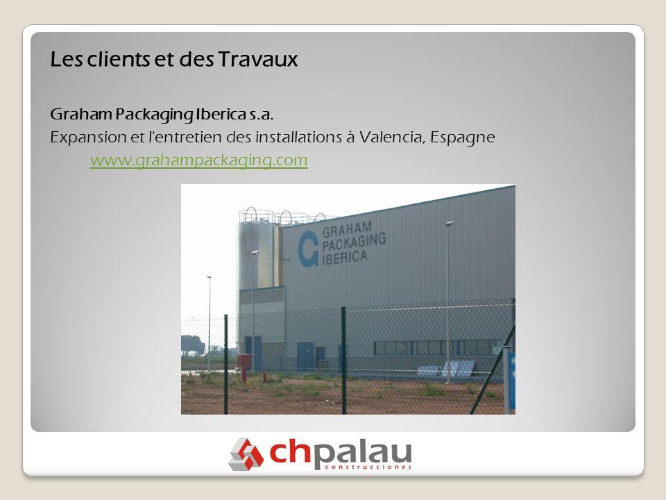 Les clients et des Travaux Graham Packaging Iberica s.a.